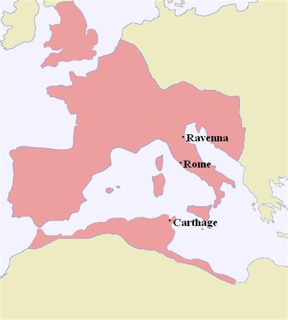 Beste Kaart van Europa na de val van het Romeinse Rijk in 476 n.C. AX-88
